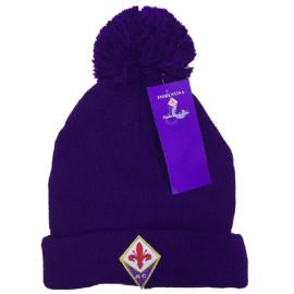 Berretto invernale con ponpon Fiorentina calcio 04513 cappello ufficiale pelusciamo store