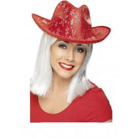 Accessori per natale Cappello Texano con fiocchi di neve | pelusciamo.com