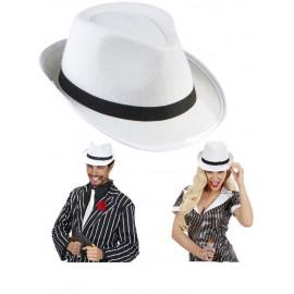 Cappello gangster bianco accessorio Costume Carnevale anni 20/30 *19801 Pelusciamo store