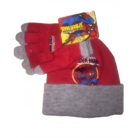 Cappello + guanti Spiderman uomo ragno Marvel *03239