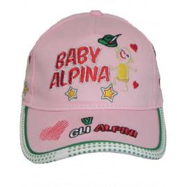 Cappellino Con Visiera bambina Baby alpina W Gli Alpini PS 06030 pelusciamo store