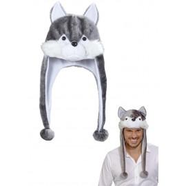 Cappello Invernale Animale Lupo Unisex  Ragazzo, Adulto PS 22816 Pelusciamo Store Marchirolo