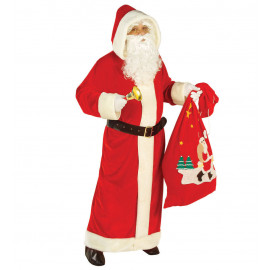 Costume Adulto Cappotto Babbo Natale Lusso | Pelusciamo.com