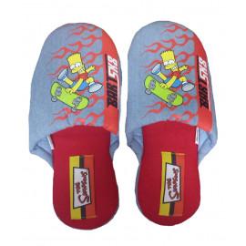 Pantofole Simpson - Ciabatte ragazzo azzurro Bart Sk8 taglia 37/38 | Pelusciamo.com