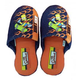 Pantofole Simpson - Ciabatte ragazzo blu Bart Sk8 taglia 37/38 | Pelusciamo.com