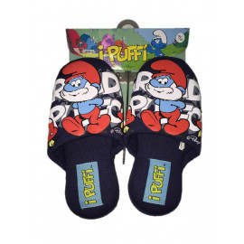 Pantofole Ragazzo Grande Puffo Ciabatte Serie Bambino  I Puffi | pelusciamo.com