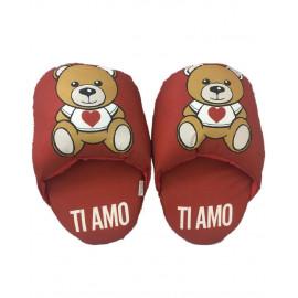 Ciabattone Orsetto teddy love ti amo regalo San Valentino 04908