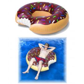 Ciambella gonfiabile marrone mare piscina donut homer simpson *07354 pelusciamo store