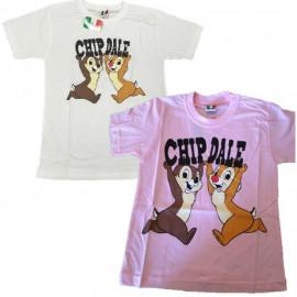 T-Shirt Bimba Cip e Ciop Disney Maglietta Bambina maniche corte *13360