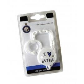 Clip Per Succhietto, FC Internazionale Gadget Neonato PS 05764 Pelusciamo Store Marchirolo