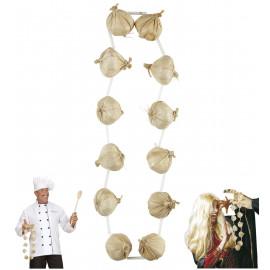 Accessorio Halloween, Collana di Aglio   | pelusciamo.com