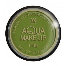 Trucco ad Acqua, Make Up  Verde body painting professionale 15gr