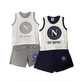 Completo canotta + pantaloncini prima infanzia ufficiale SSC Napoli *19576 pelusciamo store