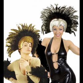 Accessorio Costume Carnevale Brasiliano, Copricapo Piume Moulin Rouge