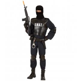 Costume Carnevale Adulto  Swat , polizia corpi speciali | Pelusciamo store
