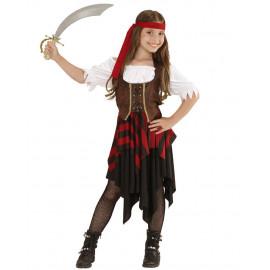 Costume carnevale Piratessa travestimento bambina pirata 05429 pelusciamo store