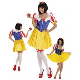 Costume di carnevale Donna Principessa Favole Biancaneve | Pelusciamo store