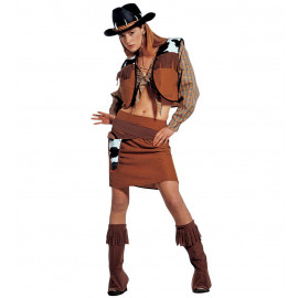 Costume Carnevale Donna Cow Girl  Western Cow Boy *02080