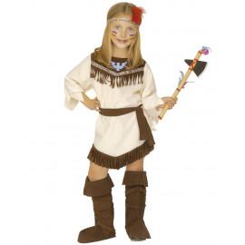 Costume carnevale indiana travestimento per Bambine 05360 pelusciamo store