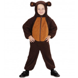 Costume Carnevale bimbo orsacchiotto tuta con cappuccio  *01659