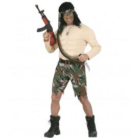 Costume Carnevale Adulto Militare, Soldato Muscoloso   | Pelusciamo store