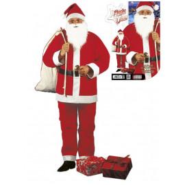 Travestimento babbo vestito completo natalizio santa claus *01460
