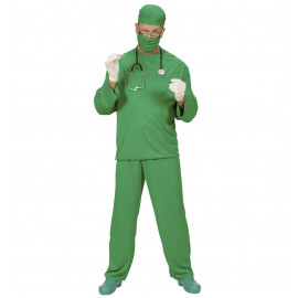Costume Carnevale uomo dottore travestimento chirurgo sala operatoria *19867 pelusciamo store