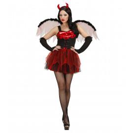 Costume Halloween Donna Diavoletta Con Ali, Carnevale PS 23286 Pelusciamo Store Marchirolo