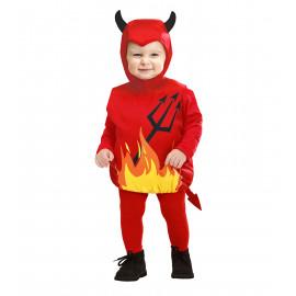 Costume Bimbo Halloween, Diavoletto Travestimento Prima Infanzia PS 09031