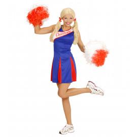 Costume Carnevale Donna Cheerleader  *22934 Ragazza Pom-Pom | Pelusciamo.com