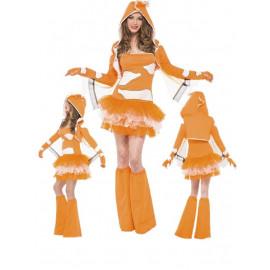 Travestimento Costume Carnevale Donna animale pesce pagliaccio tutu' smiffys 45361 *18346