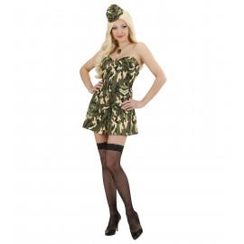 Costume Carnevale Donna Soldatessa Militare PS 22905