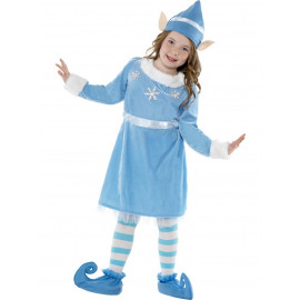 Costume  Natale Bambina Vestito Elfo Blu |  Pelusciamo.com