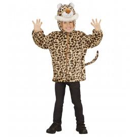 Costume Carnevale Bimbo Felpa Leopardo | Pelusciamo.com