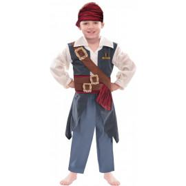 Costume Carnevale Bimbo pirata Jack Sparrow Disney  | pelusciamo.com