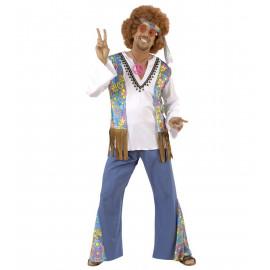 Costume Carnevale Adulto Hippie Woodstock, anni 60 Hippy  | Pelusciamo store