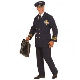 Costume Carnevale Uomo Divisa Pilota di Aerei   | Pelusciamo store