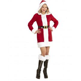 Costume Babbo Natale Donna , Cappotto Miss Babba PS 24835 Pelusciamo Store Marchirolo