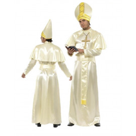 Costume Carnevale Adulto pontefice travestimento Papa smiffys *10374