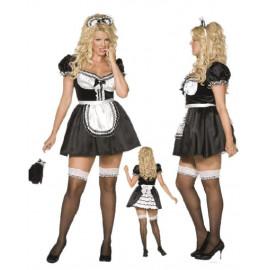Costume Carnevale donna Cameriera Taglie Forti smiffys 30381 *10444