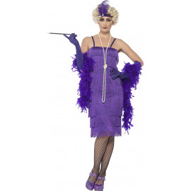 Costume Carnevale Donna Charleston Anni 20 Gonna Lunga Viola PS 25307 Pelusciamo Store Marchirolo