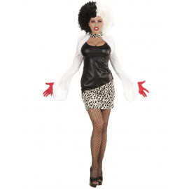Costume Carnevale Donna Crudelia Demon Evil Mistress PS 25581 Travestimento Halloween Pelusciamo Store Marchirolo