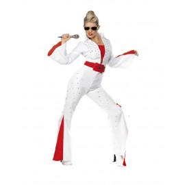 Costume Carnevale Donna Elvis Presley Jumpsuit smiffys  *09895