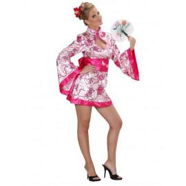 Costume Carnevale Donna Geisha Rosa PS 22766 Abito Kimono Giapponese Pelusciamo Store Marchirolo