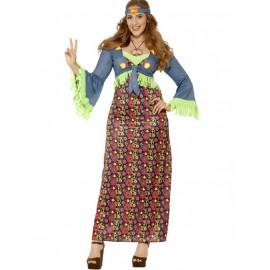 Costume Carnevale Donna Hippie Anni 60 PS 08059 Taglie Forti Pelusciamo Store Marchirolo