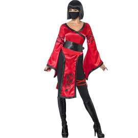 Costume Carnevale Donna Shadow Ninja Warrior PS 08121 Travestimento Pelusciamo Store Marchirolo