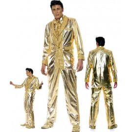 Costume Carnevale Elvis Presley Oro Gold Records smiffys *08888 pelusciamo