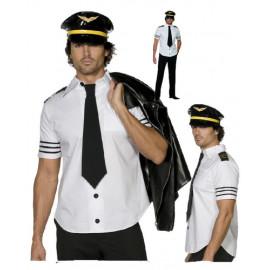 Costume Carnevale uomo capitano Pilota Aereo smiffy's 31871 *10256