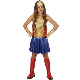 Costume Carnevale Wonder Girl Super Eroina PS 25798 Costumi Bambina