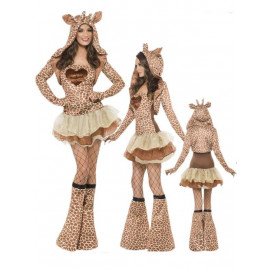 Costume Carnevale tutu' Donna animale Giraffa smiffys 22795  *17530